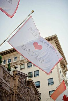 Wedding flags for your special day can then transfer to flags for the porch at your first house.