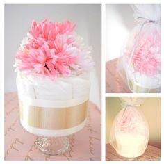 diapercake! made in japan.送料込♥出産祝♥LAスタイルのおむつケーキ pink