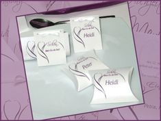 """Hochzeitskarten """"Blüte"""" lila"""