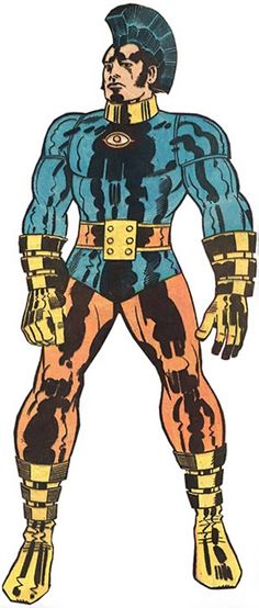 OMAC, the One Man Army Corps.  One of the DC characters created by Jack Kirby!
