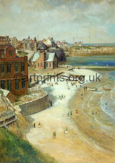View of Cullercoats by John Slater