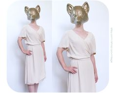 Clothing Photography, Foxes, Day Dresses, Header, Vintage Outfits, Shoulder Dress, Ivory, Trending Outfits, Unique