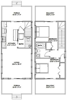 12x28 Tiny House 12X28H3 589 sq ft Excellent Floor Plans