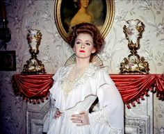"Rare color print of Bette Davis as Regina Giddens in ""The Little Foxes"""