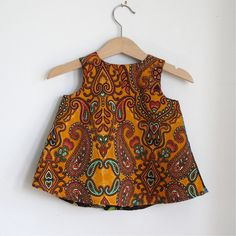 African Bright Patchwork Baby Girls Dress Sizes 3 by aprilscott