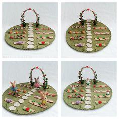Garden Trellis Playscape Play Mat wool felt pretend storybook open-ended storytelling fantasy fairytale wedding make believe small world toy