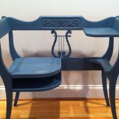 """And here is the """"after"""". It's a mid-century phone bench. My daughter and I worked together. She painted a 5-drawer dresser. Great product and so easy to work with!"""