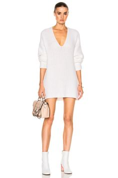 Shop for Calvin Klein Collection Chunky Luxury Light Cashmere Sweater in White at FWRD. Free 2 day shipping and returns.