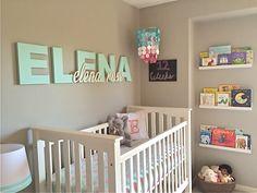 Pink, Aqua and Gray Nursery - Project Nursery