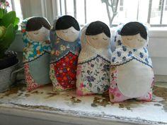 Matryoshka Doll (avec les chutes de tissus) - pattern from ithinksew.com