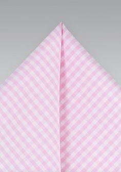 Einstecktuch Karo-Dessin rose weiß