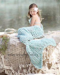 Ravelry: Set of 3 Mermaid patterns - Mermaid Tail, Headband, and Bikini Top pattern by Crochet by Jennifer
