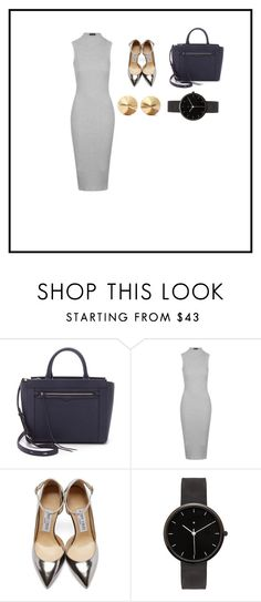 """""""Sans titre #227"""" by leoniemika on Polyvore featuring mode, Rebecca Minkoff, Topshop, Jimmy Choo, I Love Ugly, Eddie Borgo, women's clothing, women, female et woman"""