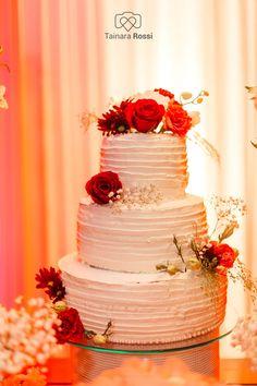Tainara Rossi Fotos | decoração de casamento, fotos de casamento, bolo de casamento, naked cake, bolos diferentes, bride