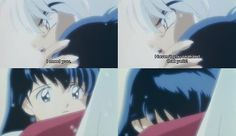 InuYasha and Kagome hug - InuYasha screenshots