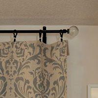 Add a finial to a DIY [conduit] curtain rod -- plus many, many more brilliant DIY drapery rod ideas!