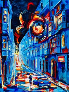 London Street Oil Painting By Numbers Abstract Coloring Paint By Number Decorative Acrylic Printed Canvas Painting Calligraphy . Subcategory: Home Decor. Big Canvas, Canvas Prints, Paint Types, Paint By Number Kits, Unique Paintings, London Street, Diy Frame, Diy Painting, Abstract
