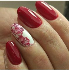 Make an original manicure for Valentine's Day - My Nails Diy Nail Designs, Nail Designs Spring, Fabulous Nails, Perfect Nails, Stylish Nails, Trendy Nails, Diy Nails, Cute Nails, Nail Manicure