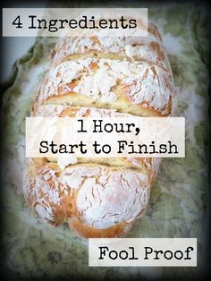 Foodie Fridays: Easy Peesy French Bread Four Ingredients, Practically No…