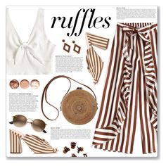"""What a Frill: Ruffles"" by myduza-and-koteczka ❤ liked on Polyvore featuring Anja, Loeffler Randall, Forever 21 and H&M"