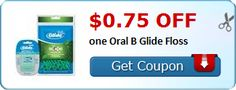 New Coupon!  $0.75 off one Oral B Glide Floss - http://www.stacyssavings.com/new-coupon-0-75-off-one-oral-b-glide-floss-2/