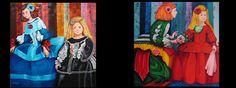 Flores en Velazquez I (2013) Oil on Canvas 150x150 by Maite Rodriguez http://maiterodriguez.es
