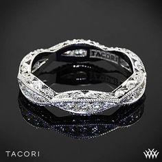 This gorgeous diamond band has a romantic ribbon-twist with diamond accents. #Whiteflash #Tacori