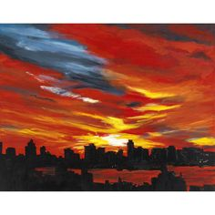 Hudson Sunset by Egilpatr, $1300.00 USD