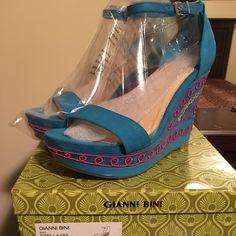 Giani Bini Stella Wedge NWT!!! Giani Bini Stella Wedge NWT!!! Never worn! Kept in box! All original packing! Gianni Bini Shoes Wedges
