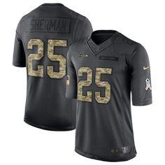 ee9277ae0 Nike NFL Seattle Seahawks SALUTE TO SERVICE Richard Sherman Football MENs  Large