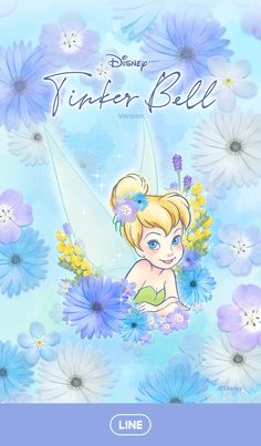 This romantic theme features Tinker Bell surrounded by dozens of beautiful flowers! Ariel Wallpaper, Tinkerbell Wallpaper, Wallpaper Iphone Disney, Cute Disney Wallpaper, Cute Cartoon Wallpapers, Disney Princess Drawings, Disney Princess Pictures, Disney Pictures, Disney Drawings