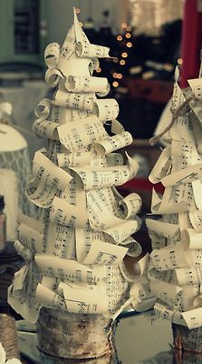 Christmas trees made out of paper