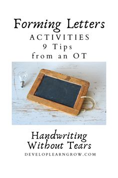 Forming Letters Activities / Handwriting Without Tears
