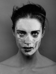 Skull make up #halloween #costume #idea