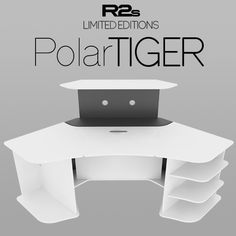 This the Limited Edition of our R2s Gaming Desk from our series with the remote lift/hide motorized mechanism for the monitors, named as R2s Polar Tiger (WA). It can support up to two (2) 24″ LCD/LED or one (1) 34″ 21:9 monitors.