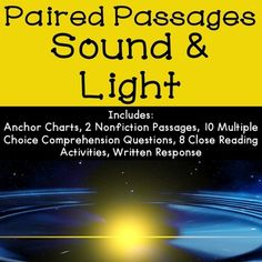 Sound and Light Reading Comprehension Passages and Activities - Great for science and reading!