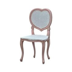 Featuring a contrasting dusk rose and white in colour, this distressed chair is sure to astound and look wonderful in a variety bedroom settings Shabby Chic Chairs, Shabby Chic Furniture, Shabby Chic Decor, Girls Furniture, Furniture Design, Luxury Decor, Luxury Interior, Distressed Chair, Antique French Furniture