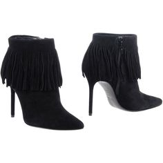 Stuart Weitzman Ankle Boots ($580) ❤ liked on Polyvore featuring shoes, boots, ankle booties, black, black bootie, black bootie boots, short black boots, leather boots and black leather booties