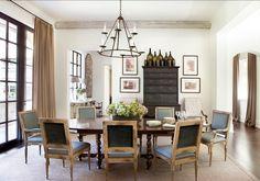 dining room ; dining room ideas ; dining room decor ; dining room table ; iron chandelier | Amy Morris Interiors ; Atlanta, GA ; interior design