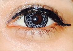 My HK gray contact lens, Lovely!