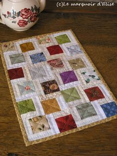 Mini scrap quilt