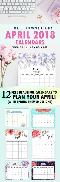 You will not believe that this April 2018 calendar set is free to print! Get the 12 free printable April calendar planners today! Free Printable Art, Free Printable Calendar, Printable Planner, Free Printables, Planner Board, Planner Pages, 2018 Planner, Budget Organization, Calendar 2018