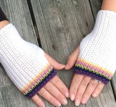 Knit Fingerless gloves Fingerless Mittens Hand by WendysWonders127