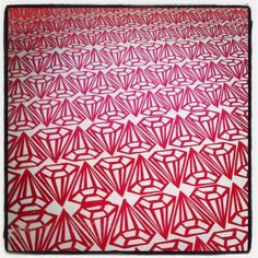 screen printed ruby diamond wallpaper swatch by CandyCoated, Candy Depew