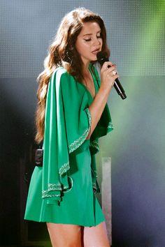 Lana Del Rey, live, green