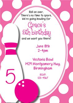 Bowling invitations templates free free printable bowling birthday another print your own filmwisefo