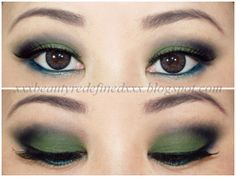 BeautyRedefined by Pang: Smoky Matte Green Makeup Look