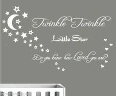 Twinkle Twinkle Little Star Moon Wall Sticker Quote Part 88