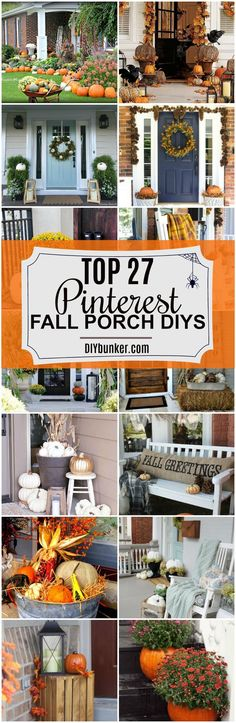 These 27 Fall Porch DIY Ideas Are AMAZING! I love how well all these decorations go together!