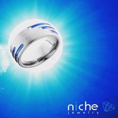 Don't forget about the Groom!Titanium 8mm Domed Band with Blue Anodized Stripes and Three .03 ct. Diamonds. I have to say this one is Sharpe looking. #utahwedding #utahweddings #utah #utahisrad #utahbride #utahvalleybride #jewels #jewelrydesign #jewelrygram #custommaderings #customjewelry #engagement #engagementrings #engagementring #engagements #madeinusa #love #weddingcountdown